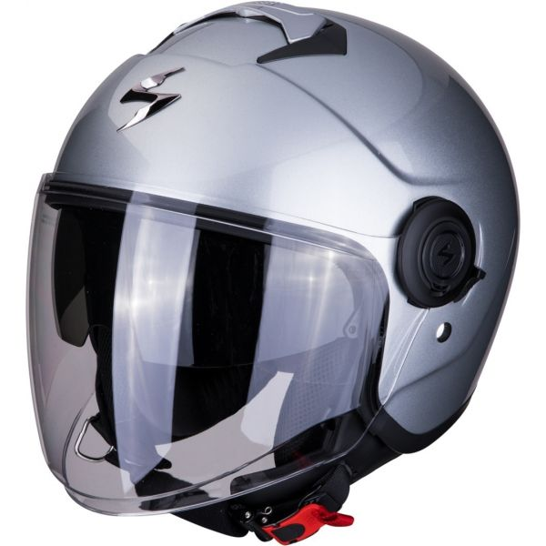 Casti Moto Jet (Open Face) Scorpion Exo Casca Moto Open Face/Jet Exo-City Solid Silver