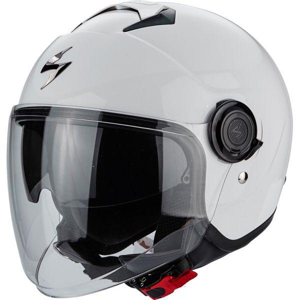 Casti Moto Jet (Open Face) Scorpion Exo Casca Moto Open Face/Jet Exo-City Solid White