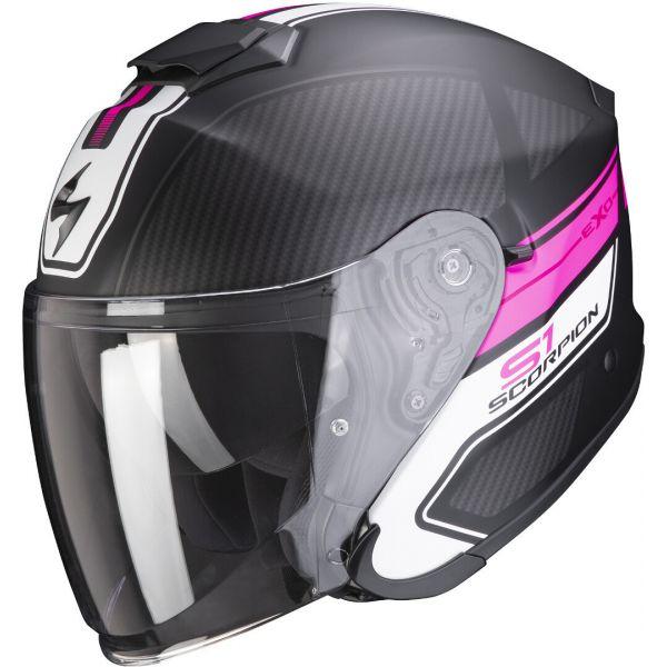 Casti Moto Jet (Open Face) Scorpion Exo Casca Moto Open Face/Jet Exo-S1 Cross-Ville Matt Black/Pink 2021