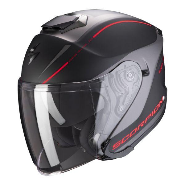 Casti Moto Jet (Open Face) Scorpion Exo Casca Moto Open Face/Jet Exo-S1 Shadow Matt Black/Red