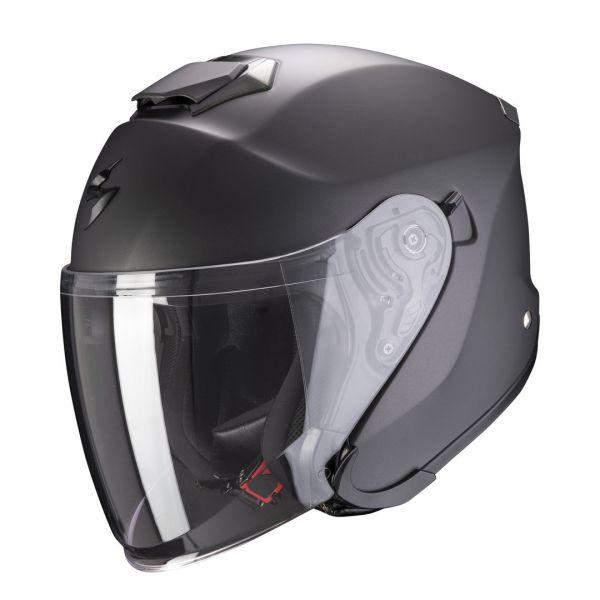 Casti Moto Jet (Open Face) Scorpion Exo Casca Moto Open Face/Jet EXO-S1 Solid Matt Antracite