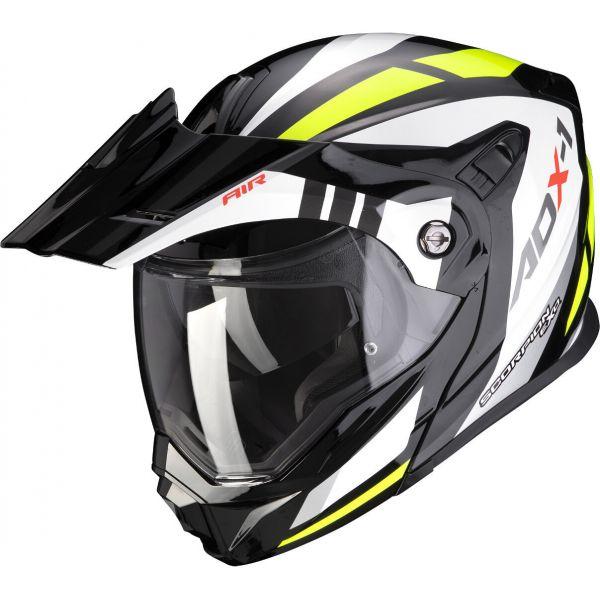 Casti Moto Adventure-Touring Scorpion Exo Casca Moto Touring/Adventure ADX-1 Lontano Black/Neon Yellow 2021