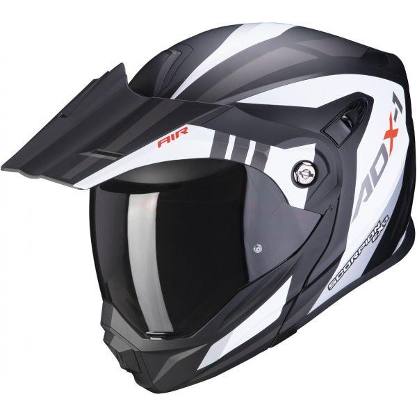 Casti Moto Adventure-Touring Scorpion Exo Casca Moto Touring/Adventure ADX-1 Lontano Matt White/Black 2021