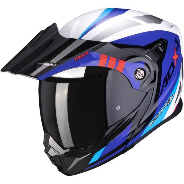 Casti Moto Adventure-Touring Scorpion Exo Casca Moto Touring/Adventure ADX-1 Lontano White/Blue/Red 2021