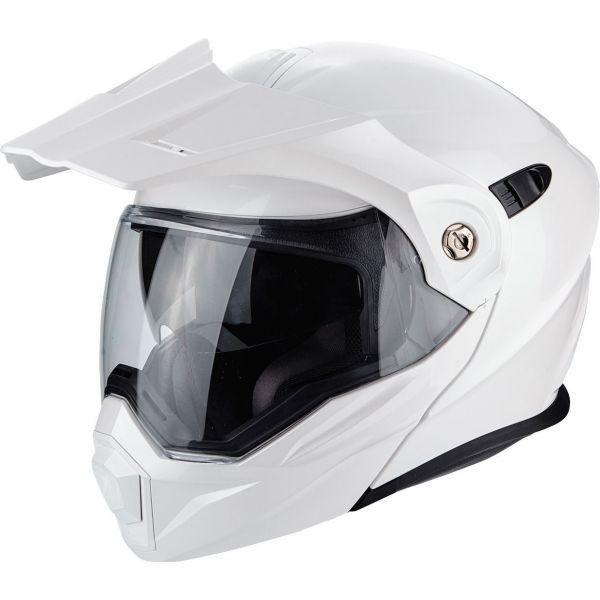 Casti Moto Adventure-Touring Scorpion Exo Casca Moto Touring/Adventure ADX-1 Solid Pearl White