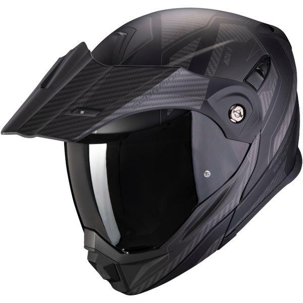Casti Moto Adventure-Touring Scorpion Exo Casca Moto Touring/Adventure ADX-1 Tucson Matt Black/Carbon Black