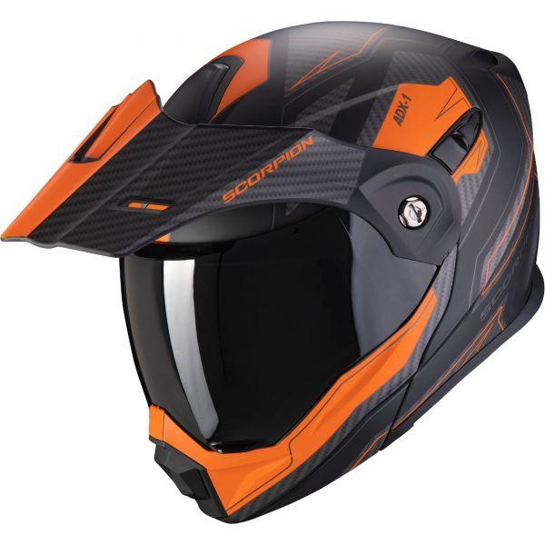 Casti Moto Adventure-Touring Scorpion Exo Casca Moto Touring/Adventure ADX-1 Tucson Matt Black/Orange