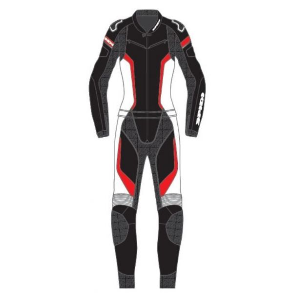 Combinezon Moto Piele - Dama Spidi Combinezon Moto Piele Dama Laser Touring Negru/Rosu 2021