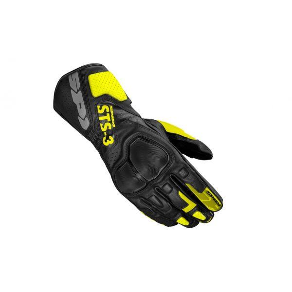 Manusi Moto Sport si Piele Spidi Manusi Moto Piele Sport STS-R3 Black/Yellow 2021