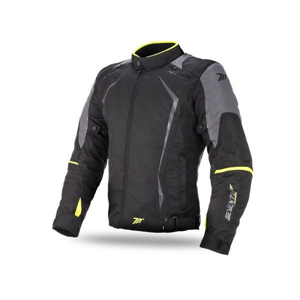 Geci Textil Seventy Geaca Textila Impermeabila SD-JR47 Black/Yellow