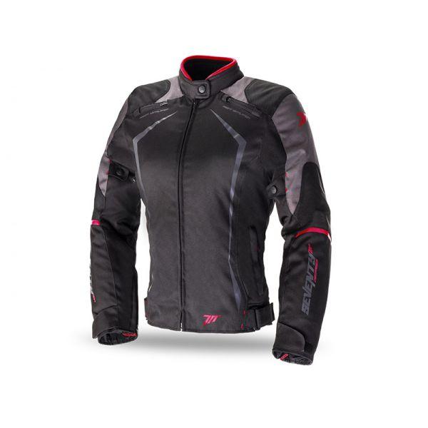 Geci Textil - Dama Seventy Geaca Textila Impermeabila SD-JR49 Black/Red Dama