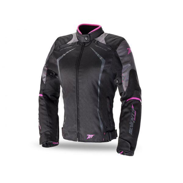 Geci Textil - Dama Seventy Geaca Textila Impermeabila SD-JR49 Dark Gray/Pink Dama