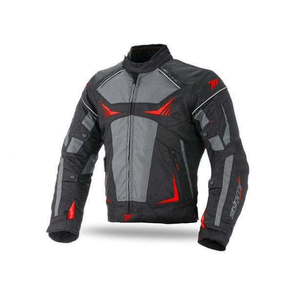 Geci Textil Seventy Geaca Textila Impermeabila SD-JR55 Black/Gray/Red