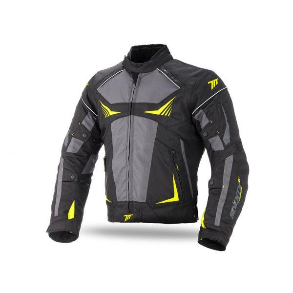 Geci Textil Seventy Geaca Textila Impermeabila SD-JR55 Black/Gray/Yellow