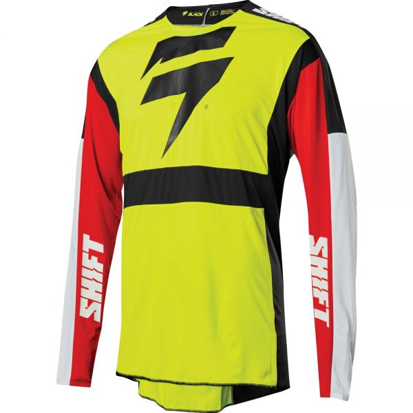 Tricouri MX-Enduro Shift LICHIDARE STOC Tricou 3lack Label Race Florida Yellow Flo