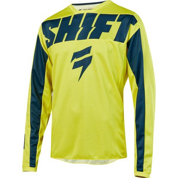 Tricouri MX-Enduro Shift Tricou Whit3 York Yellow/Navy 2019
