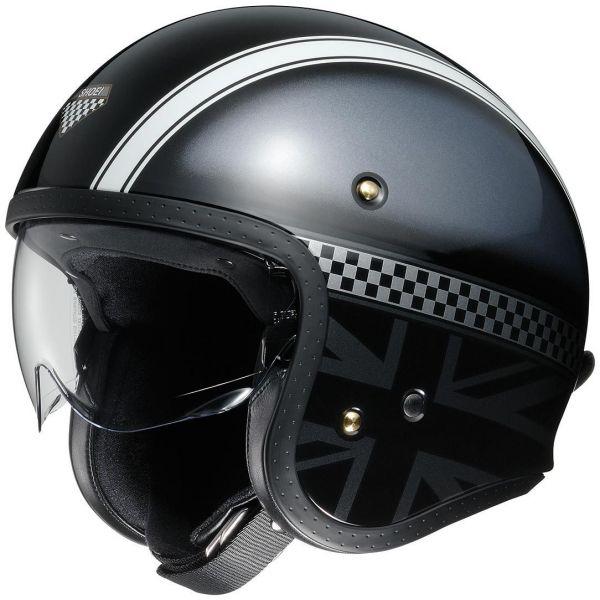 Casti Moto Jet (Open Face) Shoei Casca Moto Open Face/Jet J.O Hawker TC-5 Black/Silver