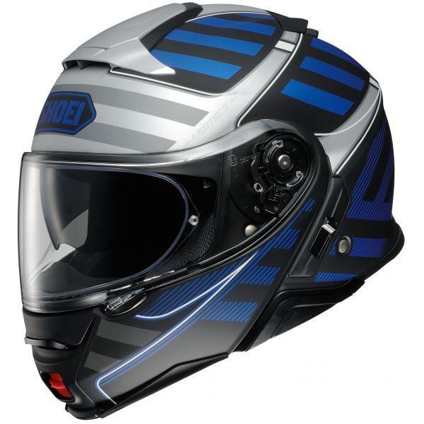 Casti Moto Flip-up (Modulabile) Shoei Casca NEOTEC 2 SPLICER TC-2 - Multicolor Albastru