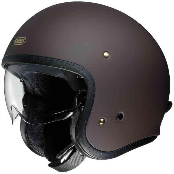 Casti Moto Jet (Open Face) Shoei Casca Moto Jet J-O Brown Matt