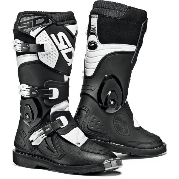 Cizme MX-Enduro Copii Sidi Cizme Moto Copii Flame Black-White 2021
