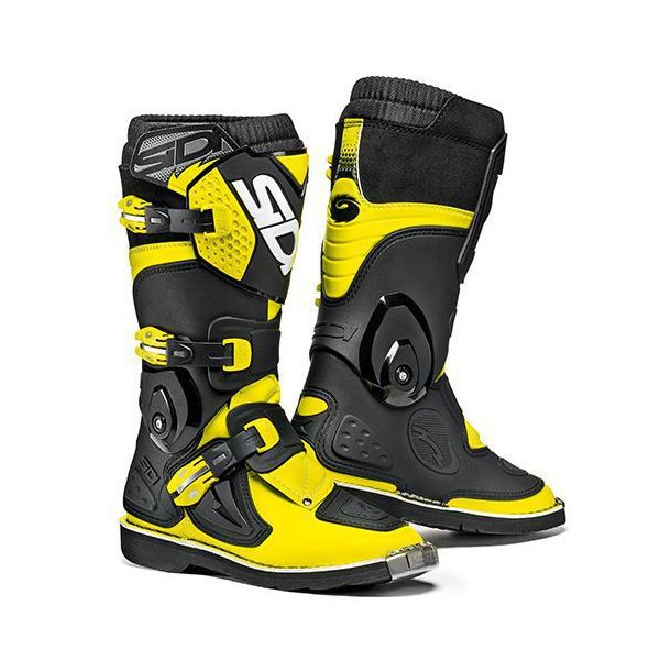Cizme MX-Enduro Copii Sidi Cizme Moto Copii Flame Black-Yellow Fluo 2021