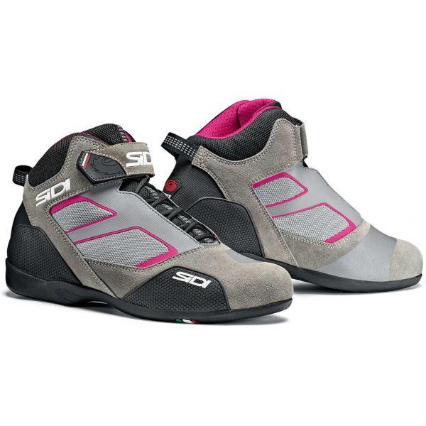 Cizme Moto - Dama Sidi Cizme Moto Meta Grey-Pink 2021