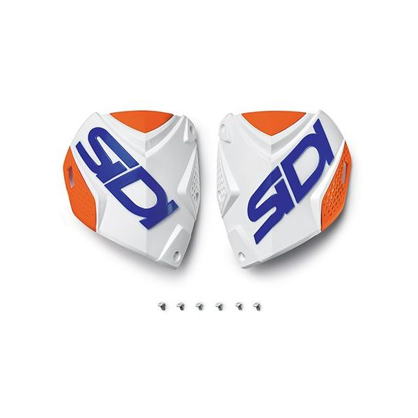 Accesorii Cizme Sidi  Crossfire2 shin plate alb-portocaliu Fluo-albastru (132)