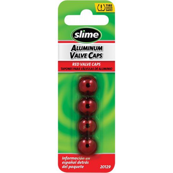 Kit Reparatie Pana Slime Capace Slime Valva Roata 4 Buc Red