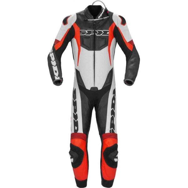 Combinezoane Moto Piele Spidi Combinezon Moto Piele Sport Warrior P Pro Negru/Rosu 2021