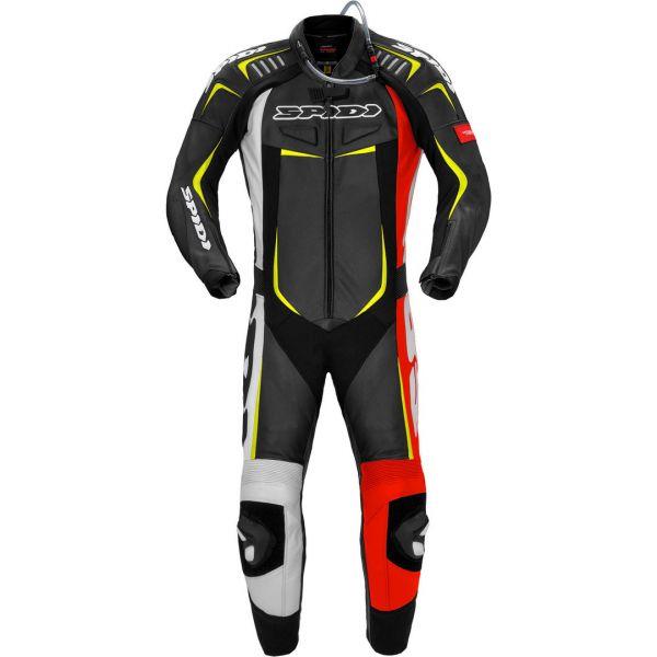 Combinezoane Moto Piele Spidi Combinezon Moto Piele Track Wind Pro Rosu/Galben Fluo 2021