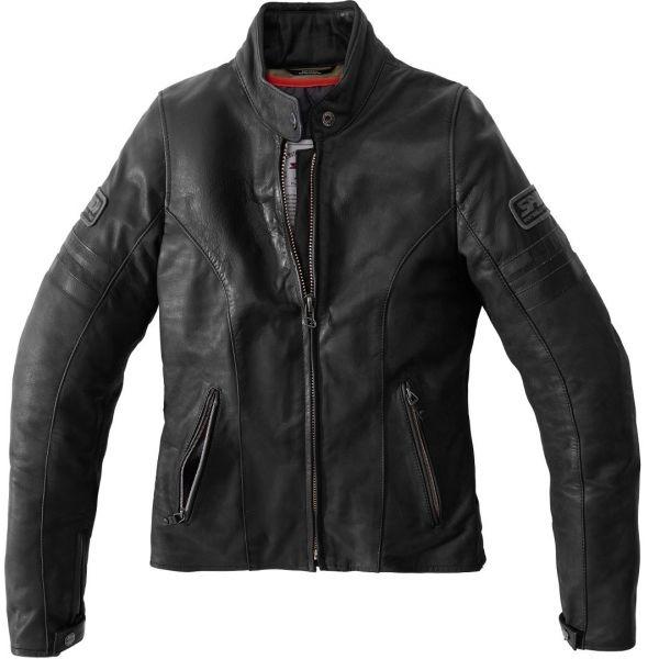Geci Moto Piele - Dama Spidi Geaca Moto Piele Dama Vintage Black 2021