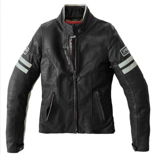 Geci Moto Piele - Dama Spidi Geaca Moto Piele Dama Vintage Ice/Black 2021