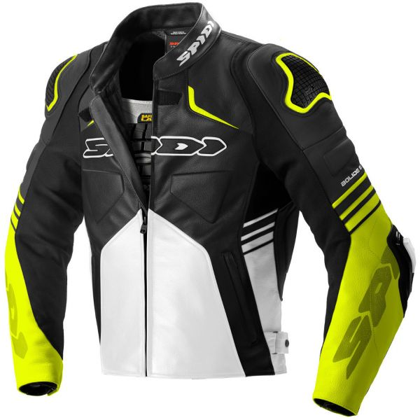Geci Piele Spidi Geaca Piele Bolide Leather Black/Fluorescente Yellow 2020