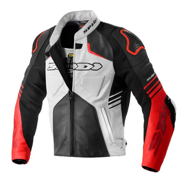 Geci Piele Spidi Geaca Piele Bolide Leather Perf Black/Red 2020