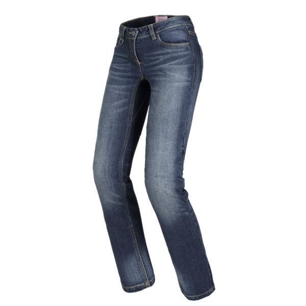 Jeans Moto - Dama Spidi Jeans J-Tracker S19 Blue Dark Used 2019 Long Dama