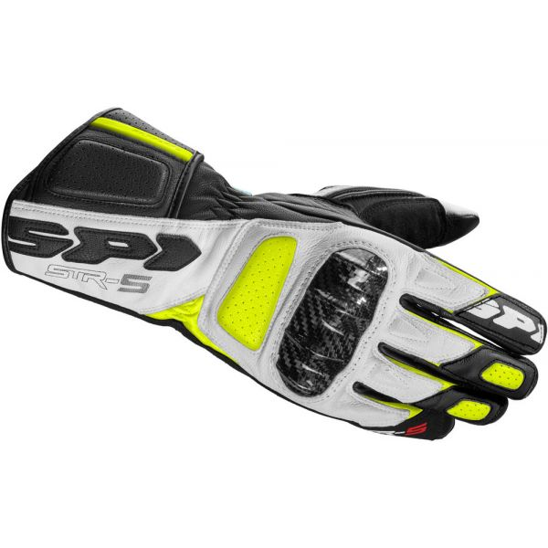 Manusi Moto Sport si Piele Spidi Manusi Moto Piele Sport STR-5 Negru/Galben 2021