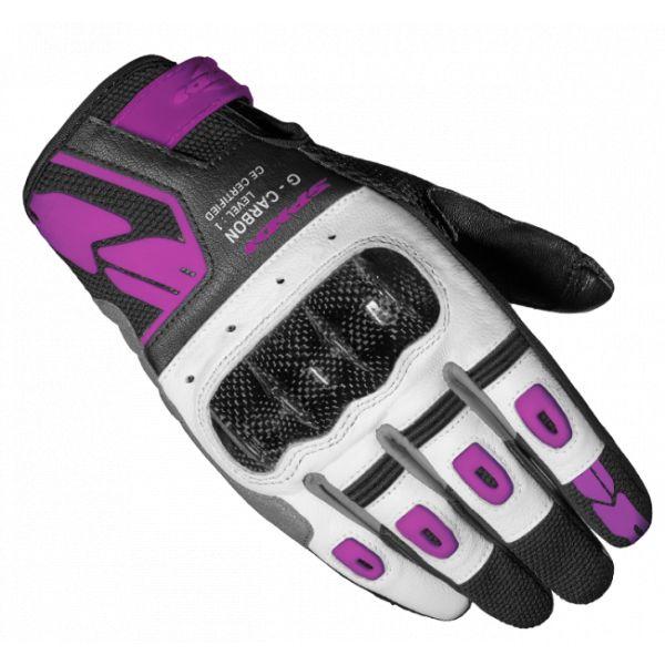 Manusi Moto Dama Spidi Manusi Moto Piele/Textile Sport Dama G-Carbon Negru/Roz 2021