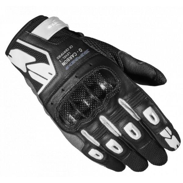 Manusi Moto Dama Spidi Manusi Moto Piele/Textile Sport Dama G-Carbon Negru/Alb 2021