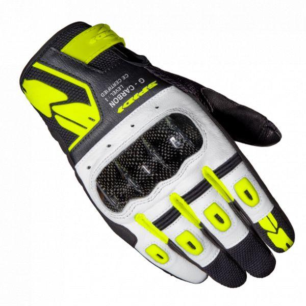 Manusi Moto Sport si Piele Spidi Manusi Moto Piele/Textile Sport G-Carbon Negru/Galben 2021
