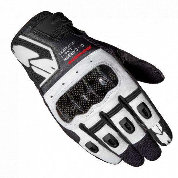 Manusi Moto Sport si Piele Spidi Manusi Moto Piele/Textile Sport G-Carbon Alb/Negru 2021