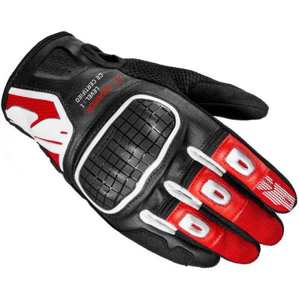 Manusi Moto Sport si Piele Spidi Manusi Moto Piele/Textile Sport G-Warrior Negru/Rosu 2021