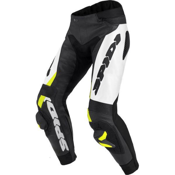 Pantaloni Moto Piele Spidi Pantaloni Piele Rr Pro Warrior Black/Fluorescente Yellow 2020