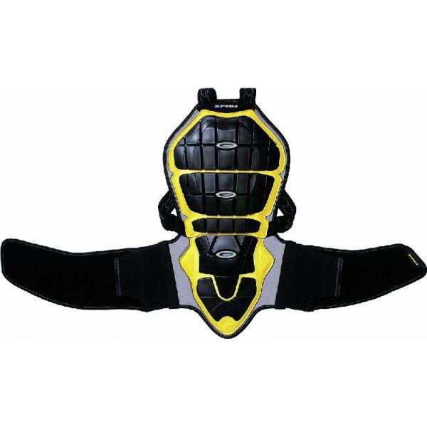 Protectii Moto Piept/Spate Spidi Protectie Dama Moto Spate Warrior Black/Yellow H160-170 2021