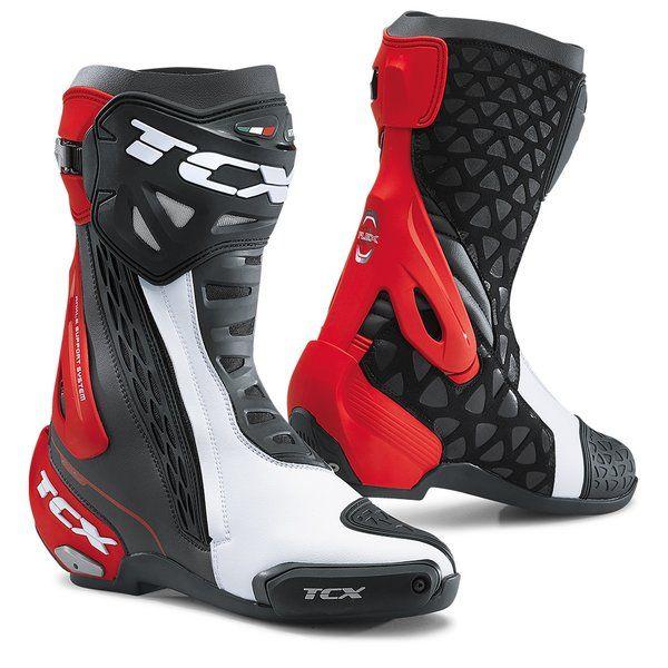Cizme Moto Sport Tcx Cizme Moto Sport RT-RACE Black/White/Red  2021