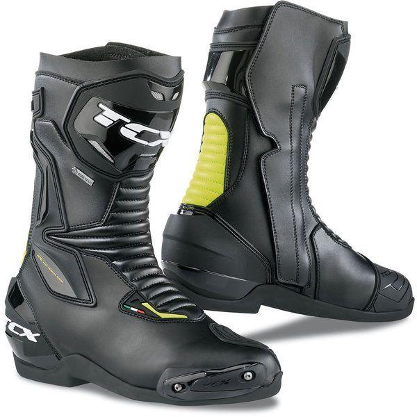 Cizme Moto Touring Tcx Cizme Moto Sport/Touring SP-MASTER GoreTex Black/Yellow Fluo 2021
