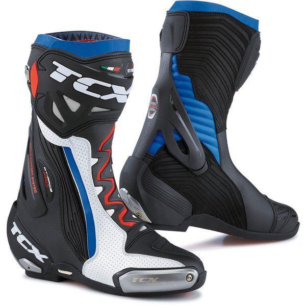 Cizme Moto Sport Tcx Cizme racing RT-RACE PRO AIR White/Black/Blue 2021