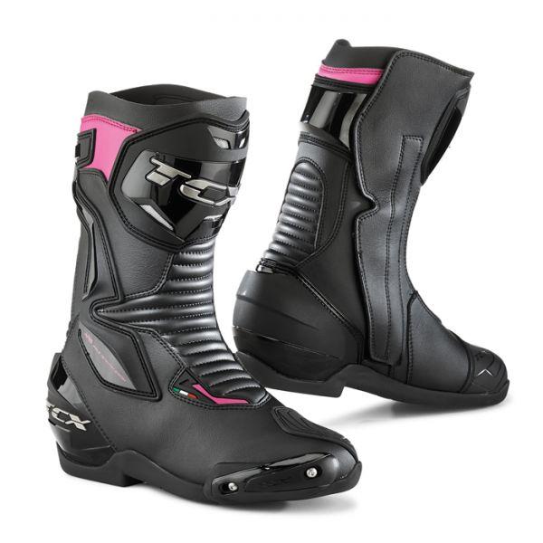 Cizme Moto - Dama Tcx Cizme SP-Master Black/Pink 2019 Dama
