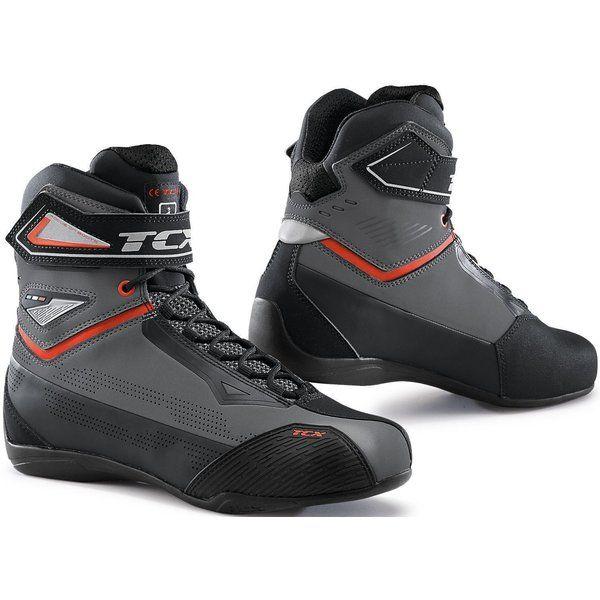 Cizme Moto Scurte/Urban Tcx Ghete Moto RUSH 2 AIR Black/Grey/Red 2021
