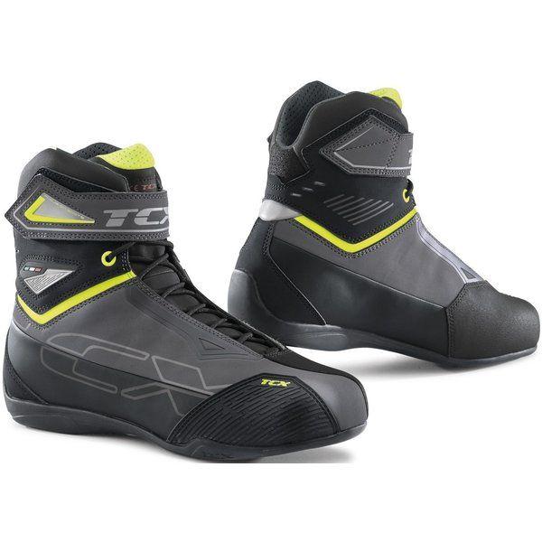 Cizme Moto Scurte/Urban Tcx Ghete Moto Sport/Touring RUSH 2 WP Grey/Yellow Fluo 2021