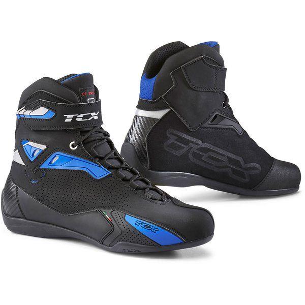 Cizme Moto Scurte/Urban Tcx Ghete Moto sport/Touring RUSH Black/Blue 2021